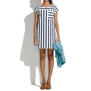 Madewell Zipline Minidress in Sidestripe Size S